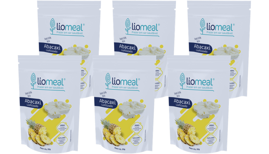 Kit 6 Snacks De Abacaxi Liofilizados